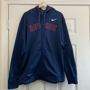 XL Mens Nike Red Sox Zip Up Hoodie Thermal Fit